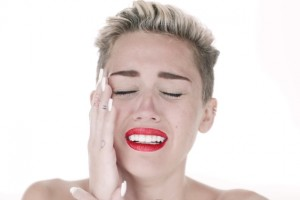 Miley Cyrus Crying in Wrecking Ball