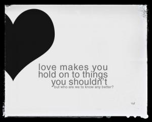 Te amo pero te dejo…