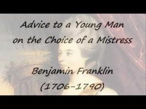 advice on the choice of a mistress